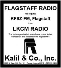 Microsoft Word - LKCM KFSZ-FM and Flagstaff Radio Tombstone.docx