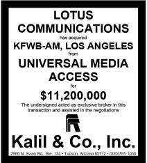 Website - Universal Media KFWB-AM and Lotus