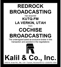 Website - Cochise Bdcstg KUTQ-FM and Redrock Bdcstg