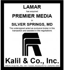 Website - Premier Media Silver Springs MD and Lamar